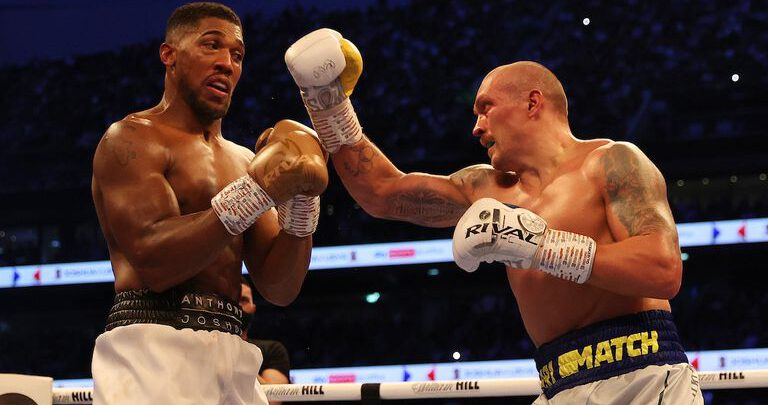 Joshua officially exercises rematch clause, will face Oleksandr Usyk next spring